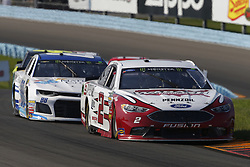 August 5, 2018 - Watkins Glen, New York, United States of America - Brad Keselowski (2) brings his car through the turns during the Go Bowling at The Glen at Watkins Glen International in Watkins Glen , New York. (Credit Image: © Chris Owens Asp Inc/ASP via ZUMA Wire)