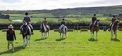 © Licensed to London News Pictures. <br /> 13/08/2014. <br /> <br /> Danby, North Yorkshire, United Kingdom<br /> <br /> Judging takes place during one of the rounds at the Danby Agricultural Show in North Yorkshire. <br /> <br /> This year is the 154th show which was founded in 1848. It is the oldest agricultural show in the area and offers sheep dog trials, judging of a variety of different animals such as cattle, sheep, ferrets, horses and rabbits along with different classes of horticulture and dairy. <br /> <br /> Photo credit : Ian Forsyth/LNP