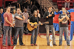 22 December 2013:  Dustin Reynolds, Marc Broomby, Kirk Ellis, Brett Gillian, & Darin Holthaus Brushville (formerly Brushfire) plays as the entertainment and pep band for a men's NCAA basketball game between the Blue Demons of DePaul and the Redbirds of Illinois State at Redbird Arena in Normal IL