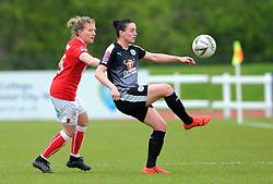 Frankie Brown of Bristol City applies pressure on Jade Moore of Reading Women- Mandatory by-line: Nizaam Jones/JMP- 31/03/2019 - FOOTBALL - Stoke Gifford Stadium - Bristol, England - Bristol City Women v Reading Women - FA Women's Super League 1