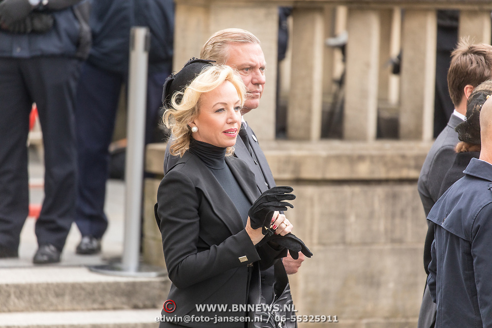 LUX/Luxemburg/20190504 - Funeral of HRH Grand Duke Jean/Uitvaart Groothertog Jean, Prince Carlo of Bourbon-Two Sicilies and Princess Camilla of Bourbon-Two Sicilies