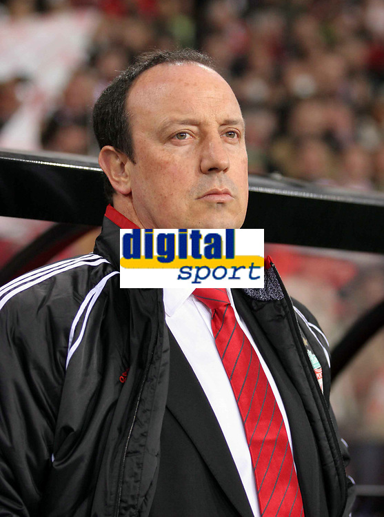 Foto Omega/GPA<br /> Eindhoven 03/04/2007<br /> Champions League 2006-2007 Quarti di finale - andata -<br /> Psv Eindhoven-Liverpool 0-3<br /> Nella foto Rafa Benitez allenatore del Liverpool