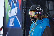 Alex Beaulieu-Marchand during Slopestyle Practice at the 2013 X Games Tignes in Tignes, France. ©Brett Wilhelm/ESPN