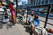 Family living in Kolkata streets (India).