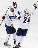 Joie Julien Desrosiers / Laurent Meunier- 09.05.2015 - Canada  / France  - Championnats du Monde de Hockey sur Glace 2015 -Prague<br />Photo : Xavier Laine / Icon Sport