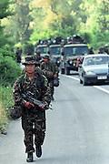 War in Kosovo<br /> Nato forces entering Kosovo.