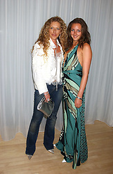 Left to right, KELLY HOPPEN and her daughter NATASHA CORRETT at party in aid of cancer charity Clic Sargent held at the Sanderson Hotel, Berners Street, London on 4th July 2005.<br />