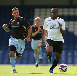 Bury, England - Saturday, July 7, 2007: Everton's Victor Anichebe  in action against Bury during a pre-season friendly at Gigg Lane. (Photo by Dave Kendall/Propaganda)
