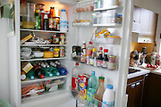 The Le Moine family refrigerator. The Le Moine family lives in the Paris suburb of Montreuil, France, and is one of the thirty families featured, with a weeks' worth of food, in the book Hungry Planet: What the World Eats.