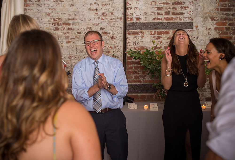 July 30, 2015, Brooklyn, NY:<br /> The wedding of Chloe Scott-Giry and Nathan Einschlag at The Wythe Hotel and The Green Building in Brooklyn, New York Thursday, July 30, 2015.<br /> (Photo by Billie Weiss)