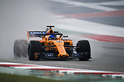 October 18-21, 2018: United States Grand Prix.   Fernando Alonso (SPA), McLaren Renault, MCL33