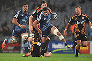 Charles Piutau makes a break during the Blues v Chiefs Super Rugby match at Eden Park, Auckland, New Zealand. Saturday 11 July 2014. Photo: Andrew Cornaga/Photosport.co.nz
