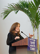 "Westbury, New York, USA. January 15, 2017. Representative KATHLEEN RICE (Democrat - 4th Congressional District) is speaking at the ""Our First Stand"" Rally against Republicans repealing the Affordable Care Act, ACA, taking millions of people off health insurance, making massive cuts to Medicaid, and defunding Planned Parenthood. Hosts were Reps. T. Suozzi (Dem. - 3rd Congress. Dist.) and Rice."