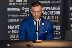 July 14, 2017 - London, London, UK - UFC Lightweight Champion CONOR MCGREGOR takes part in a press conference at Wembley SSE on the final leg of their World Tour in London. (Credit Image: © Ray Tang via ZUMA Wire)