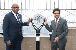 April 27, 2018 - New York, NY, USA - Actor FOREST WHITAKER and Education Above All CEO FAHAD AL-SULAITI lights the Empire State Building in honor of the Education Above All Foundation on April 27, 2018 in New York. (Credit Image: © Bryan Smith via ZUMA Wire)