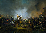 The Prince of Orange at the Battle of Quatre Bras, 16 June 1815. Painted in 1817 - 1818, by  Jan Willem Pieneman,