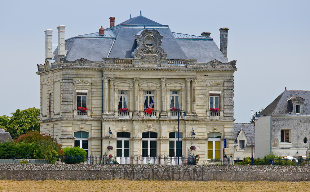 Town Hall, La Mairie, at Les Rosiers Sur Loire in the Loire Valley region, France