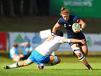 Rugby Union - 2017 Women's Rugby World Cup (WRWC) - Pool B: USA vs. Italy<br /> <br /> USA's Alev Kelter is tackled by Italy's Ilaria Arrighetti  , at Billings Park UCD, Dublin.<br /> <br /> COLORSPORT/KEN SUTTON