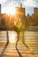 New York City Dance Photography- Dance As Art Gantry State Park with ballerina Mykaila Symes En Pointe