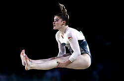 England's Alice Kinsella competes in the floor event of Women's Team Final and Individual Qualification - Subdivision 4 at the Coomera Indoor Sports Centre during day two of the 2018 Commonwealth Games in the Gold Coast, Australia.