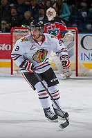KELOWNA, CANADA - OCTOBER 4:  Chase De Leo #9 of the Portland Winterhawks skates on the ice against the Kelowna Rockets  at the Kelowna Rockets on October 4, 2013 at Prospera Place in Kelowna, British Columbia, Canada (Photo by Marissa Baecker/Shoot the Breeze) *** Local Caption ***
