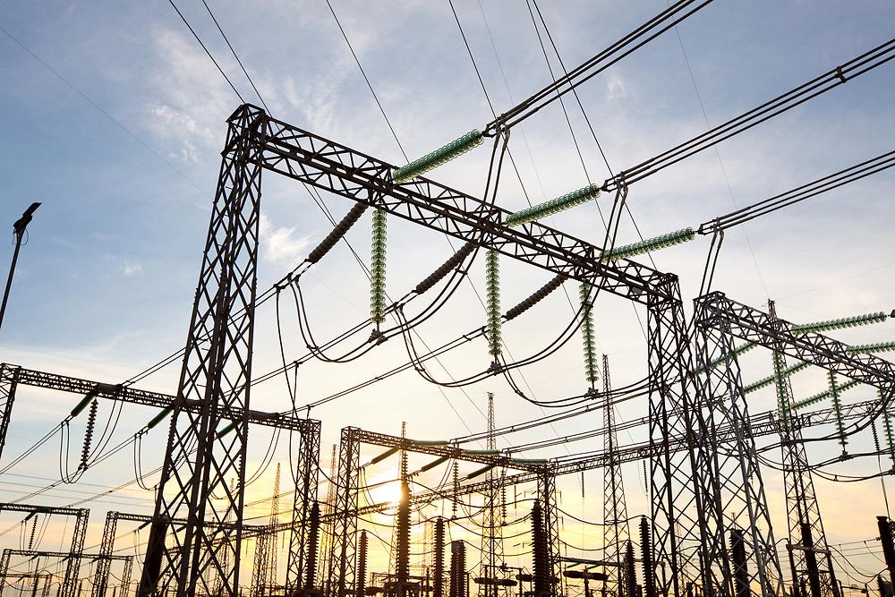 Electric substation at Santiago de Chile