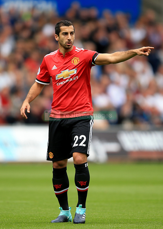 19 August 2017 -  Premier League - Swansea City v Manchester United - Henrikh Mkhitaryan of Manchester United - Photo: Marc Atkins/Offside