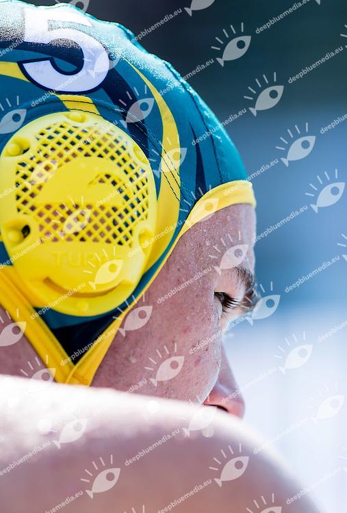 5 POWER Nathan AUS<br /> Brazil BRA (white) - Australia AUS (green)<br /> day 04 - 26/06/2015<br /> FINA Water Polo World League Superfinal Men<br /> Bergamo (ITA) 23-28 June 2015<br /> Photo G.Scala/Deepbluemedia