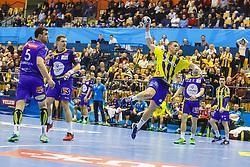 Poteko Vid #15 of RK Celje Pivovarna Lasko during handball match between RK Celje Pivovarna Lasko (SLO) and KS Viive Tauron Kielce (POL) in Group phase of EHF Men's Champions League 2016/17, on February 19, 2017 in Arena Zlatorog, Celje, Slovenia. Photo by Grega Valancic
