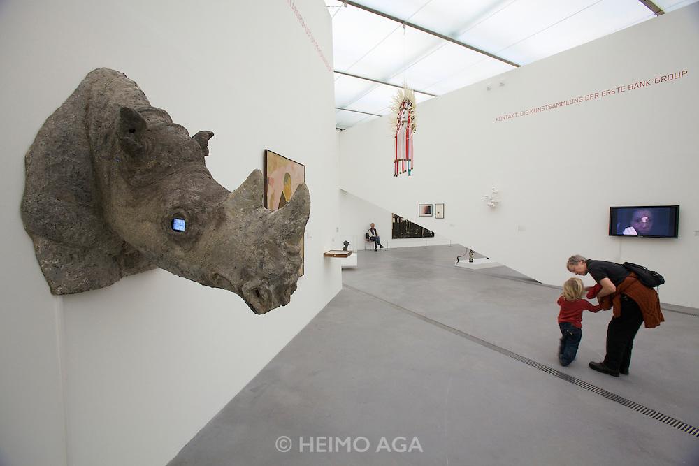 "Linz, Cultural Capital of Europe 2009. Lentos Kunstmuseum. Exhibition ""Best of Austria"". ""Cyberknowledge. Die Konstruktion der Dekadenz (Cyber Knowledge. The Construction of Decadence)"", 1993/4 by Margot Pilz. Loan from MUSA/Vienna."