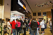 "24 NOVEMBER 2011 - PHOENIX, AZ:  The crowd in front of Game Stop at Paradise Valley Mall Thursday. ""Black Friday,"" the unofficial start of the holiday shopping season started even earlier than normal. Many stores, including Target and Best Buy, opened at midnight.    Photo by Jack Kurtz"