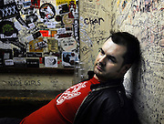 Jim Jeffries backstage at The Barfly Camden