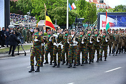 May 3, 2019 - Warsaw, Poland - Military parade held on 20th anniversary of Poland's NATO membership and 15th anniversary of membership at Europea Union. President Andrzej Duda, Prime Minister Mateusz Morawiecki, Marshall of Sejm Marek Kuchcinski, Marshall of Senate Stanisalaw Karczewski and Minister of Defense Mariusz Blaszczak joined parade in the capital. (Credit Image: © Pacific Press via ZUMA Wire)