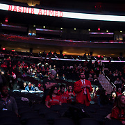 January 9, 2018, New York, NY : St. John's men's basketball team fans wait for the start of Tuesday night's matchup between the Hoyas and Red Storm at the Garden. In something of a rematch of their 1985 contest, Basketball greats Patrick Ewing and Chris Mullin returned to Madison Square Garden on Tuesday night to face off as coaches with their respective Georgetown and St. John's teams.  CREDIT: Karsten Moran for The New York Times