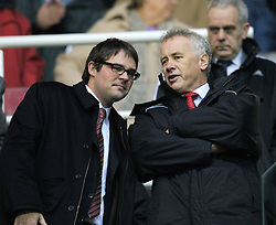 Reading, England - Saturday, December 8, 2007: Liverpool's Director Foster Gillett (L) and Chief-Executive Rick Parry char before the Premiership match against Reading at the Madejski Stadium. (Photo by David Rawcliffe/Propaganda)