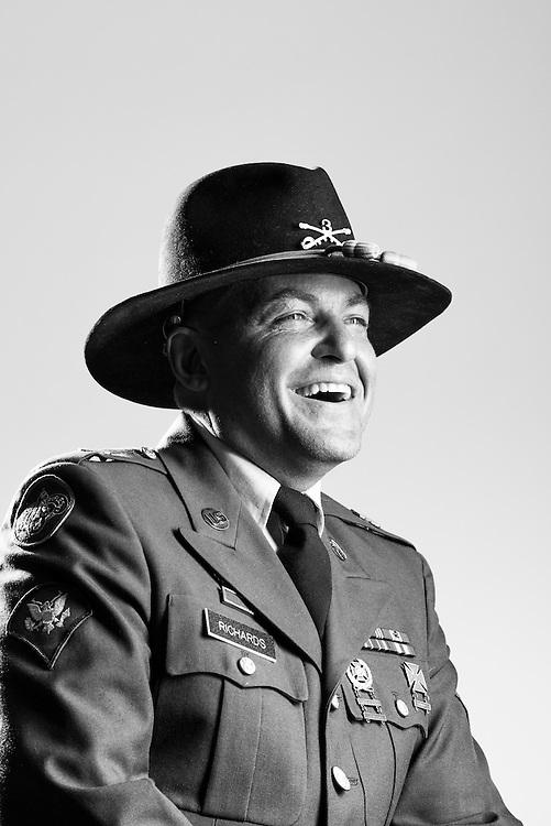 Jason Richards<br /> Army<br /> E-5<br /> Cavalry Scout<br /> 2000 - 2008<br /> OIF<br /> <br /> Veterans Portrait Project<br /> Philadelphia, PA