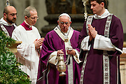 Vatican City feb 10th 2016, the pope leads the Ash Wednesday Mass. In the picture pope Francis