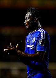 Mikel John Obi of Chelsea looks on - Mandatory byline: Rogan Thomson/JMP - 07966 386802 - 23/09/2015 - FOOTBALL - Bescot Stadium - Walsall, England - Walsall v Chelsea - Capital One Cup.