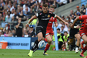 Exeter Chiefs fly-half Henry Slade (13) kicks during the Gallagher Premiership Rugby Final match between Exeter Chiefs and Saracens at Twickenham, Richmond, United Kingdom on 1 June 2019.