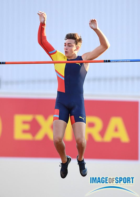 Mondo  Duplantis aka Armand Duplantis (SWE) places fourth in the pole vault at 19-0 3/4 (5.81m) during the 54th  Bislett Games in an IAAF Diamond League meet in Oslo, Norway, Thursday, June 13, 2019. (Jiro Mochizuki/Image of Sport)