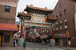 Chinatown archway gate, Philadelphia, Pennsylvania, United States of America