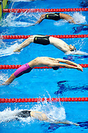 Ashgabat, Turkmenistan - 2017 September 24: Merdan Atayew from Turkmenistan competes in Men's 100m Backstroke Heat 4 while Short Course Swimming competition during 2017 Ashgabat 5th Asian Indoor & Martial Arts Games at Aquatics Centre (AQC) at Ashgabat Olympic Complex on September 24, 2017 in Ashgabat, Turkmenistan.<br /> <br /> Photo by © Adam Nurkiewicz / Laurel Photo Services