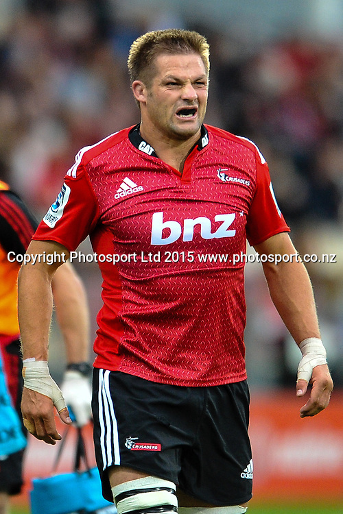 Richie McCaw of the Crusaders in the Super Rugby match, Crusaders v Rebels at AMI Stadium, Christchurch, New Zealand 13 February 2015. Photo:John Davidson/www.photosport.co.nz