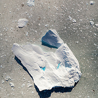 Greenland, Ilulissat, Aerial view of massive iceberg calved from face of Eqi Glacier along Disko Bay in early summer