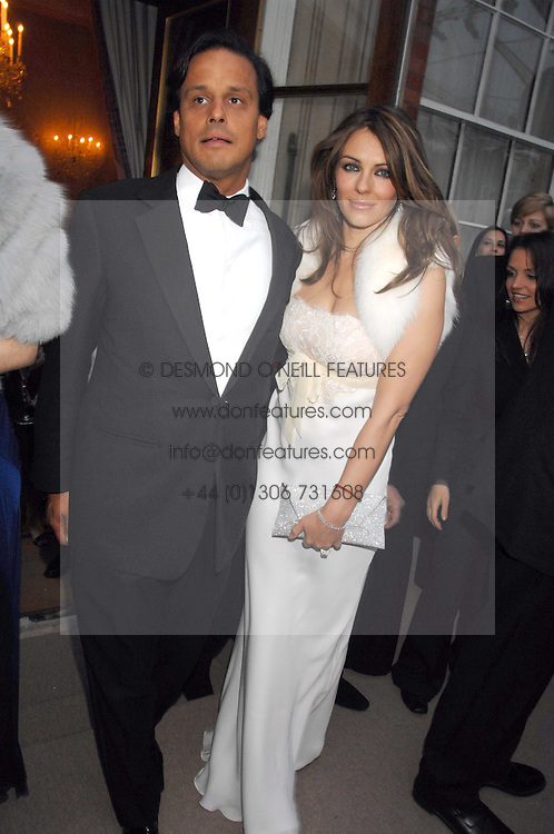 LIZ HURLEY and ARUN NAYAR at the Ark 2007 charity gala at Marlborough House, Pall Mall, London SW1 on 11th May 2007.<br /><br />NON EXCLUSIVE - WORLD RIGHTS
