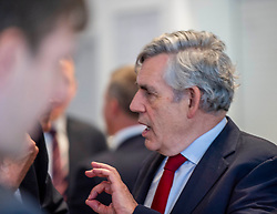Pictured: Gordon Brown prepares to make his speech.<br />