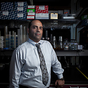 Dr. Charbel Moussa inside his laboratory at Georgetown University, on Wednesday, August 17, 2016.  Dr. Moussa is investigating new therapeutic treatments for Parkinson's, Alzheimer and other related diseases.  For STAT News