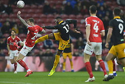 January 26, 2019 - Middlesbrough, North Yorkshire, United Kingdom - Newport County player Jamille Matt has a shot at goal during the FA Cup match between Middlesbrough and Newport County at the Riverside Stadium, Middlesbrough on Saturday 26th January 2019. (Credit Image: © Mi News/NurPhoto via ZUMA Press)