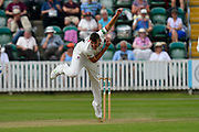 Craig Overton of Somerset bowling during the Specsavers County Champ Div 1 match between Somerset County Cricket Club and Nottinghamshire County Cricket Club at the Cooper Associates County Ground, Taunton, United Kingdom on 10 June 2018. Picture by Graham Hunt.