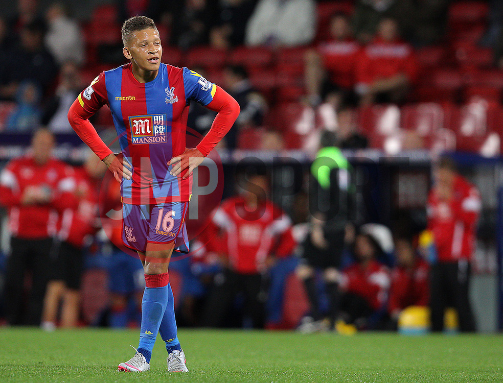 Dwight Gayle of Crystal Palace look dejected - Mandatory byline: Paul Terry/JMP - 07966386802 - 25/08/2015 - FOOTBALL - Selhurst Park -London,England - Crystal Palace v Shrewsbury town - Capital One Cup - Second Round